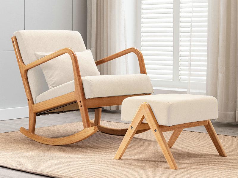 懶人沙發搖搖椅家用大人陽臺臥室單人沙發成人午睡躺椅實木沙發椅